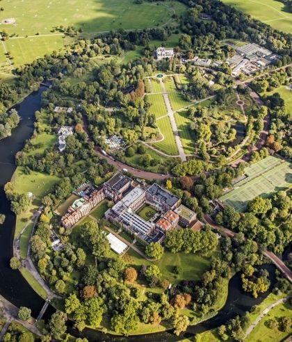 Aerial shot of Regent's University London's campus