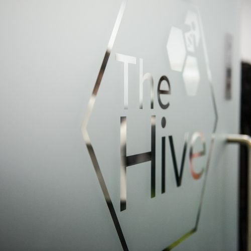 Photo of the entrance to The Hive